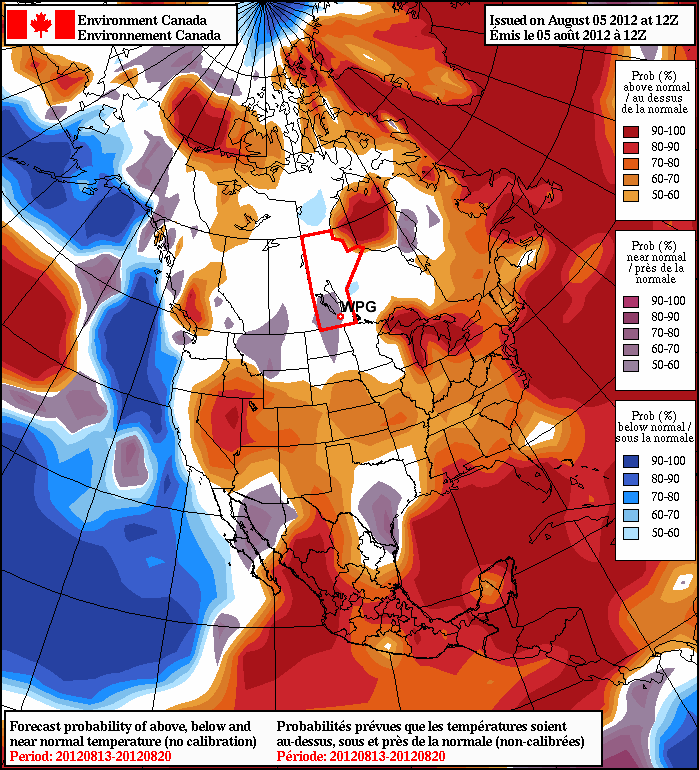 Normal weather is expected throughtmid- August