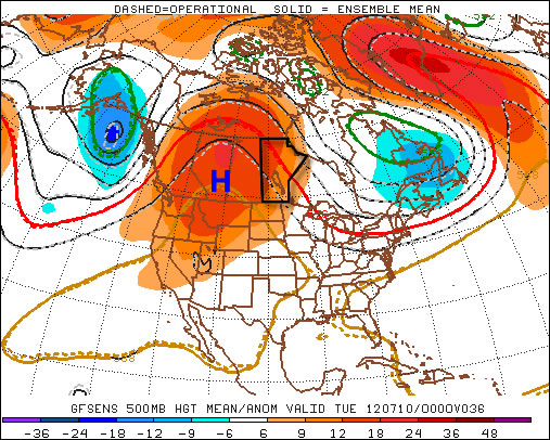 A large ridge of high pressure will reside over Western Canada this week